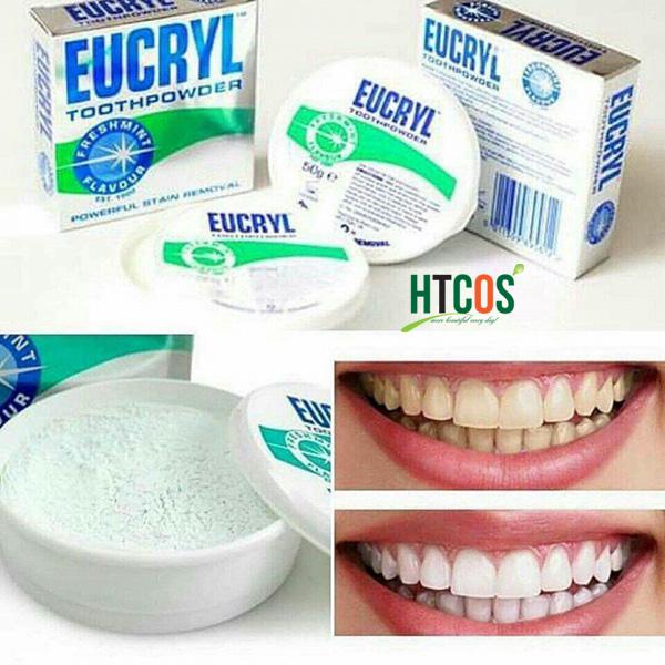 Bột tẩy trắng răng Eucryl Tooth Powder 50g mua ở đâu