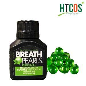 Viên uống ngậm thơm miệng Breath pearls hộp 50 viên của Úc-mua ở đâu
