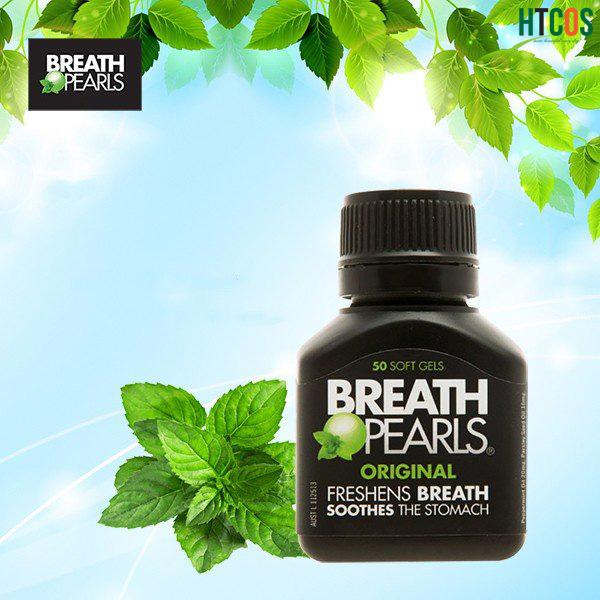 Viên uống ngậm thơm miệng Breath pearls hộp 50 viên của Úc-Giá tốt nhất