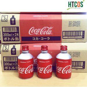 Coca Cola chai nhôm nắp vặn 300ml nội địa nhật