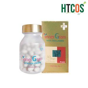 (Viên Uống Cấp Nước Trắng Da Trị Nám Inner Gram Vita Collagen 60V) chính hãng