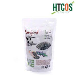Hạt Chia Trắng Sunfood Super Foods Raw Organic Chia Seeds 454gr Mỹ