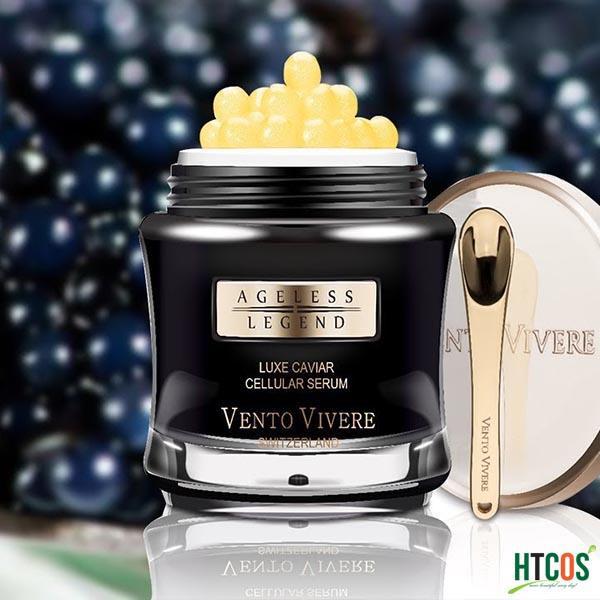 Serum Chống Lão Hoá Da Trứng Cá Tầm Vento Vivere Luxe Caviar Cellular Serum Thụy Sĩ