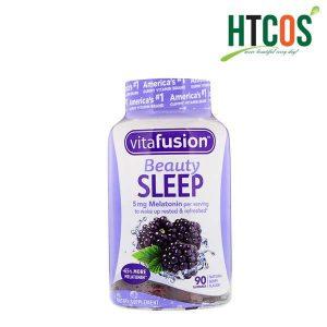 Thực phẩm chức năng Kẹo dẻo hỗ trợ ngủ ngon Vitafusion Beauty Sleep Gummies 90v