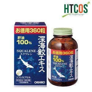 Hỗ trợ xương khớp Viên Uống Sụn Vi Cá Squalene Orihiro 360 Viên Của Nhật