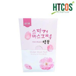 Mặt nạ hoa anh đào Genie Cherry Blossom Sticker Mask Pack mua ở đâu chính hãng