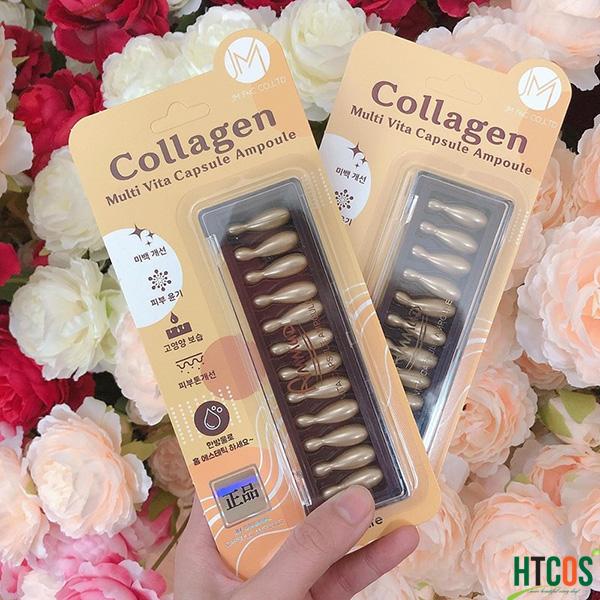 Viên Collagen tươi Ammud Multi Vita Ampoule set 12 Hàn Quốc - Cải thiện nếp nhăn, trẻ hóa da chính hãng