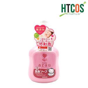 Sữa Tắm Gội Trẻ Em Arau Baby Foam Body Soap 450ml Nhật Bản