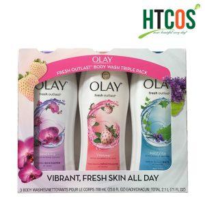 Bộ 3 chai sữa tắm Olay Vibrant Fresh Skin All Day 700ml giá tốt mua ở đâu