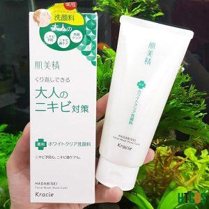 Sữa Rửa Mặt Dành Cho Da Mụn Kracie Hadabisei Acne Care Facial Wash 110gr hiệu quả như thế nào