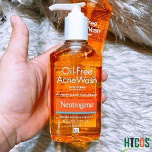 sữa rửa mặt trị mụn neutrogena oil free acne wash màu cam 177ml mua ở đâu