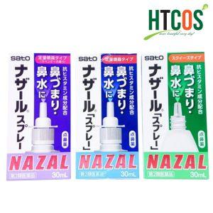 Thuốc Xịt Trị Xoang Mũi Sato Nazal 30ml Nhật Bản