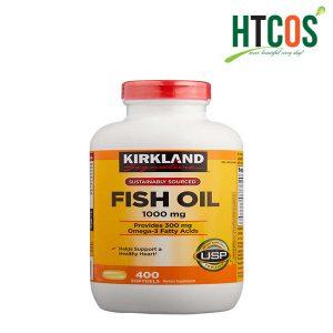 Viên uống Dầu cá Kirkland Signature Fish Oil 1000mg 400 Viên Mỹ