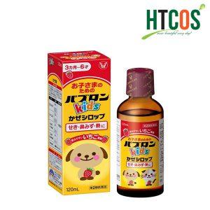 Siro Ho Cho Trẻ Từ 3 tháng - 6 Tuổi Hình Chó Mèo Taisho Paburon Kids 120ml Nhật Bản