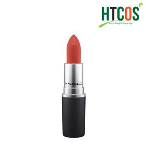 Son Mac Powder Kiss Lipstick Rouge 316 Devoted To Chili 3gr