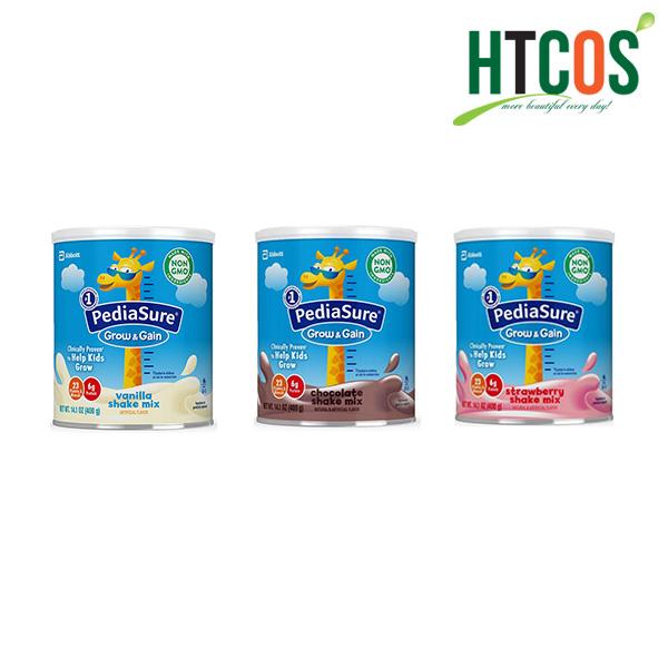 Sữa Bột Pediasure Grow&Gain Shake Mix Hộp 400gr Mỹ