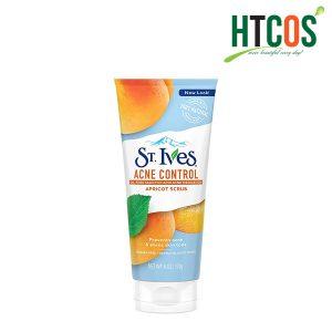Sữa Rửa Mặt Tẩy Tế Bào Chết Chiết Xuất Mơ Cho Da Mụn ST.Ives Acne Control Apricot Scrub 170gr Mỹ