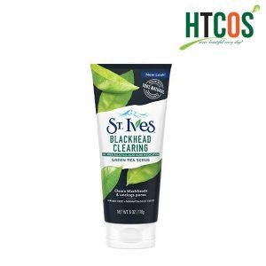 Sữa Rửa Mặt Tẩy Tế Bào Chết Chiết Xuất Trà Xanh ST.Ives Blackhead Clearing Green Tea Scrub 170gr Mỹ