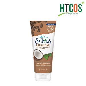 Sữa Rửa Mặt Tẩy Tế Bào Chết Chiết Xuất Dừa & Cafe ST.Ives Energizing Coconut & Coffee Scrub 170gr Mỹ