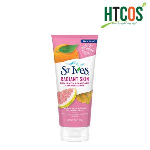 Sữa Rửa Mặt Tẩy Tế Bào Chết Chiết Xuất Chanh Đào Và Cam Quýt ST.Ives Radiant Skin Pink Lemon & Mandarin Orange Scrub 170gr Mỹ