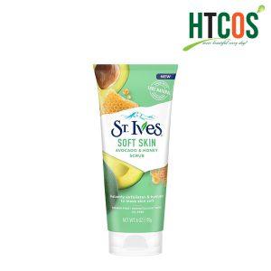 Sữa Rửa Mặt Tẩy Tế Bào Chết Chiết Xuất Bơ Và Mật Ong ST.Ives Soft Skin Scrub Avocado & Honey 170gr Mỹ