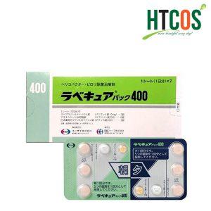 Viên Uống Đặc Trị Vi Khuẩn HP Rabecure 400 Màu Xanh Lá Nhật Bản
