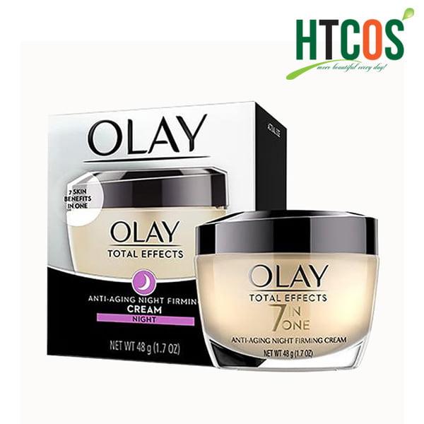 Kem Dưỡng Da Ban Đêm Olay Total Effects 7 In One Anti-Aging Night Firming Cream 48gr Mỹ