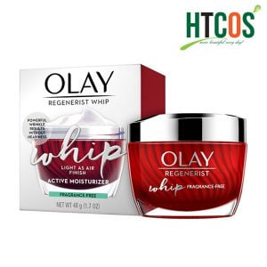 Kem Dưỡng Da Ban Ngày Olay Regenerist Whip Light As Air Finish Active Moisturizer Fragrance Free 48gr Mỹ