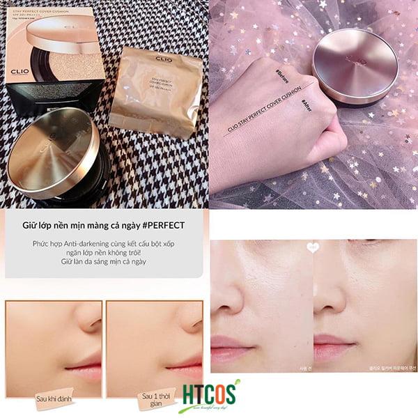 Phấn Nước CLIO Stay Perfect Cover Cushion SPF 50+ PA++++ 15gr Hàn Quốc tốt không