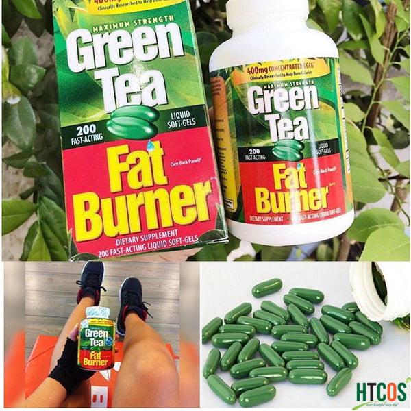 Viên Uống Giảm Cân Chiết Xuất Trà Xanh Green Tea Fat Burner 200 Viên Mỹ bao nhiêu