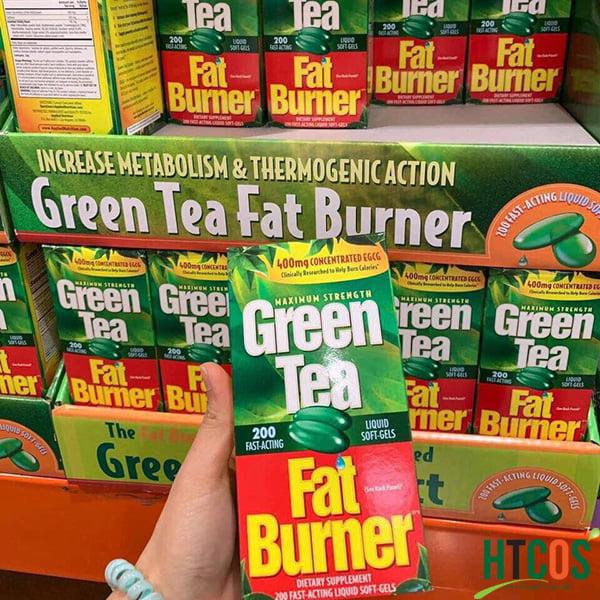 Viên Uống Giảm Cân Chiết Xuất Trà Xanh Green Tea Fat Burner 200 Viên Mỹ mua đâu