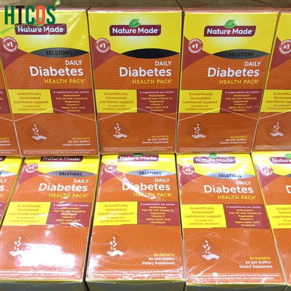 Viên Uống Vitamin Cho Người Tiểu Đường Nature Made Diabetes Health Pack 60 Gói Mỹ mua đâu