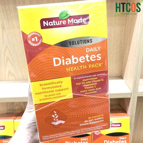 Viên Uống Vitamin Cho Người Tiểu Đường Nature Made Diabetes Health Pack 60 Gói Mỹ tốt không