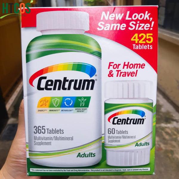 Viên Uống Bổ Sung Vitamin Và Khoáng Chất Tổng Hợp Centrum Multivitamin Multimineral 425 Viên Mỹ bao nhiêu