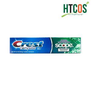 Kem Đánh Răng Crest Complete Extra Whitening Scope 232gr Mỹ