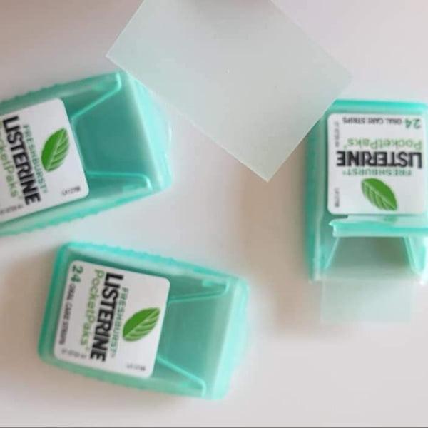 Miếng Ngậm Thơm Miệng Listerine Freshburst Pocketpaks 72 Miếng Mỹ mùi thơm không