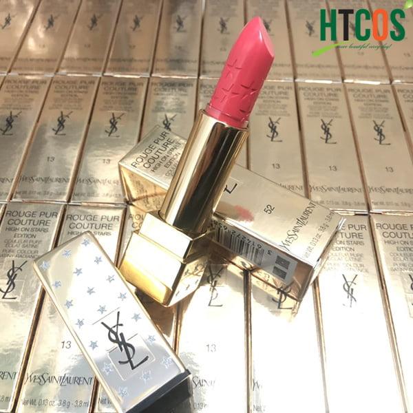 Son YSL Rouge Pur Couture High On Stars Edition #52 Rouge Rose lên màu đẹp không