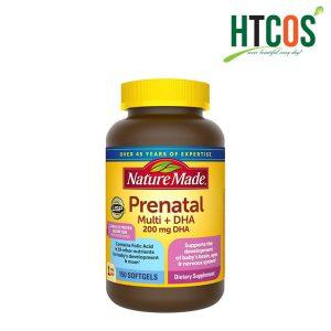 Viên Uống Bổ Sung Vitamin Cho Bà Bầu Nature Made Prenatal Multi DHA 150 Viên