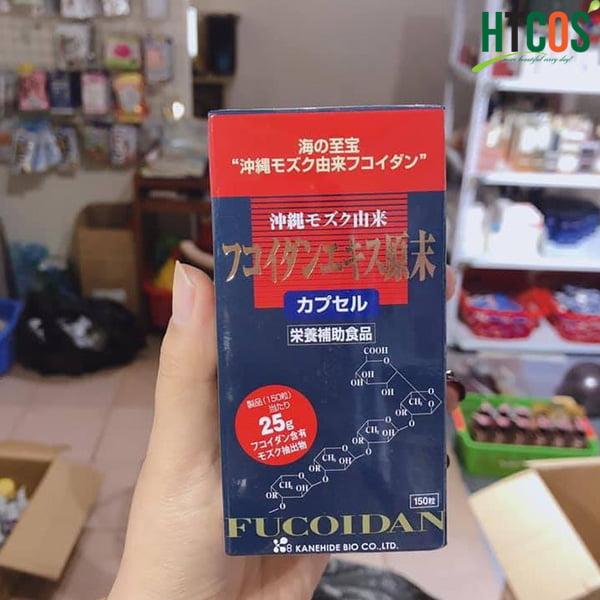 Viên Uống Hỗ Trợ Điều Trị Ung Thư Fucoidan Đỏ Kanehide Bio 150 Viên Nhật Bản giá bao nhiêu