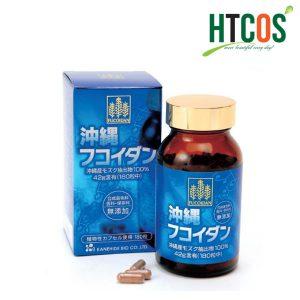 Viên Uống Hỗ Trợ Phòng Chống Ung Thư Fucoidan Xanh Kanehide Bio 180 Viên Nhật Bản