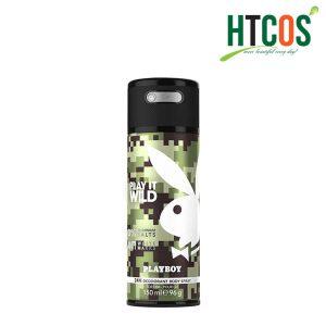 Xịt Khử Mùi Nam Playboy Play It Wild Deodorant Body Spray 150ml EU