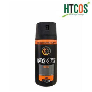 Xịt Khử Mùi Toàn Thân Dành Cho Nam AXE Musk Deodorant Body Spray 48h Fresh 150ml Mỹ