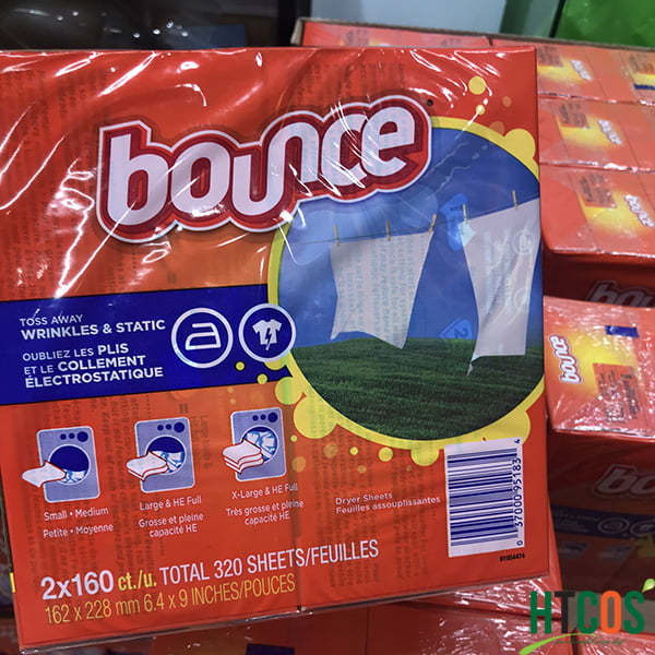 Giấy Thơm Quần Áo Bounce Hộp 320 Tờ Mỹ giá bao nhiêu