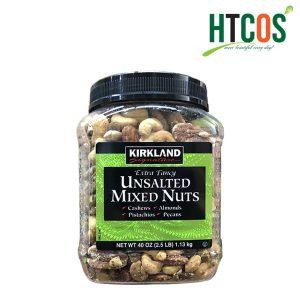 Hạt Hỗn Hợp Không Muối Kirkland Signature Unsalted Mixed Nuts 1.13kg Mỹ