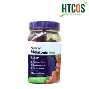 Kẹo Dẻo Ngủ Ngon Hương Dâu Natrol Melatonin 5mg 180 Viên Mỹ