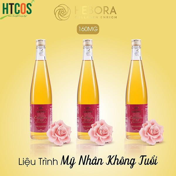 Nước Uống Đẹp Da Hebora Collagen Enrich Sakura & Damask Rose 500ml Nhật Bản tốt không