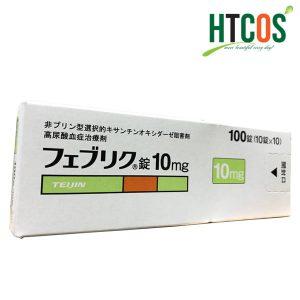 Viên Uống Đặc Trị Bệnh Gout Feburic Tablet 10mg 100 Viên Nhật Bản