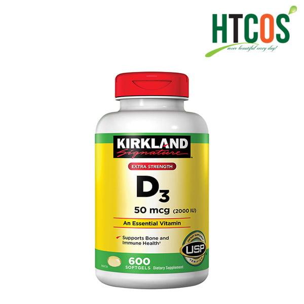Viên Uống Vitamin D3 Kirkland Signature Extra Strength D3 50mcg 600 Viên Mỹ