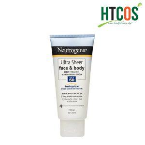 Kem Chống Nắng Cho Mặt & Toàn Thân Neutrogena Ultra Sheer Face & Body Dry Touch Sunscreen Lotion SPF50 88ml