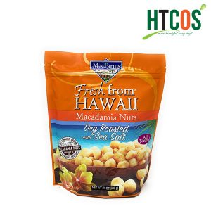 Hạt Mắc Ca Tẩm Muối MacFarms Macadamia Nuts Dry Roasted With Sea Salt 680gr Mỹ